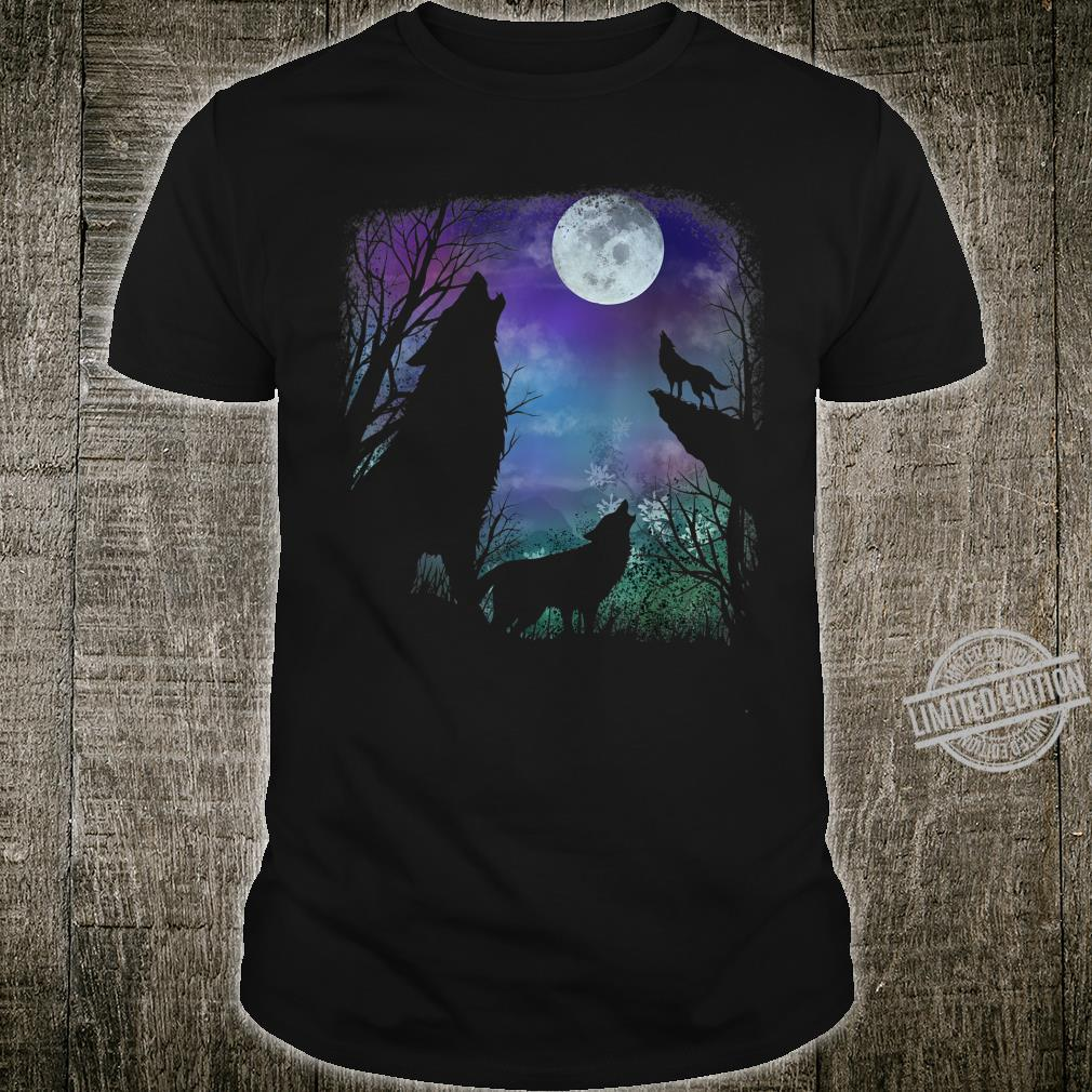 3 howling wolf in Full moon n Youth Shirt