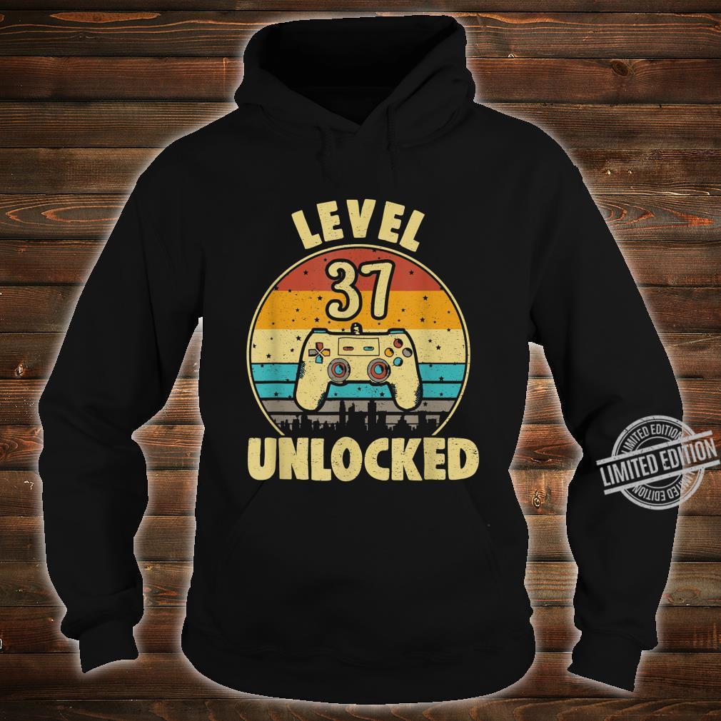 37. Geburtstag Geschenk Level 37 Complete Gamer Shirt hoodie