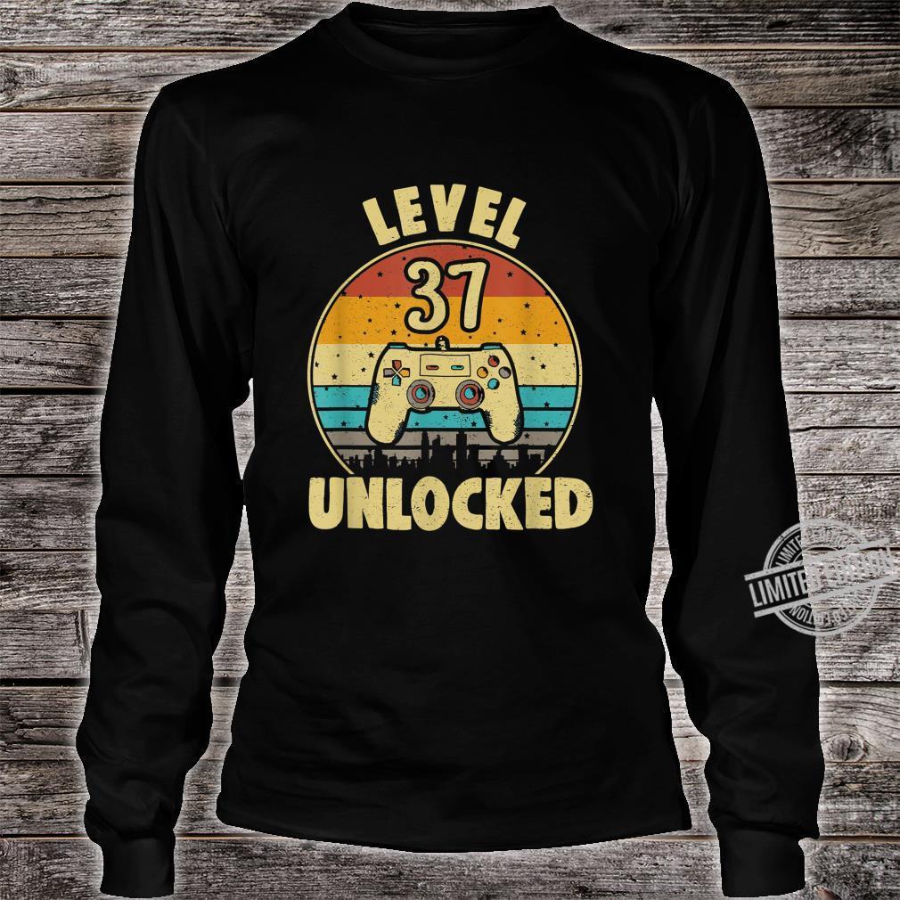 37. Geburtstag Geschenk Level 37 Complete Gamer Shirt long sleeved