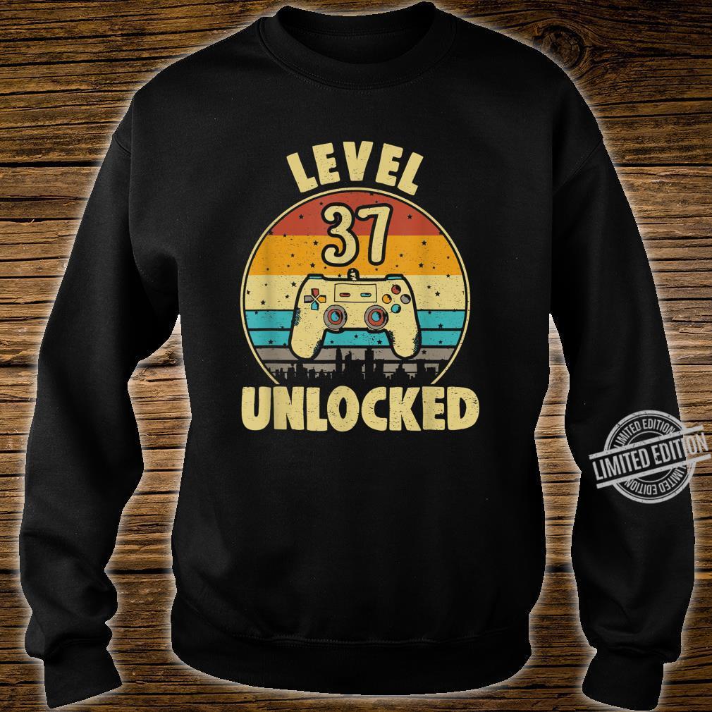 37. Geburtstag Geschenk Level 37 Complete Gamer Shirt sweater