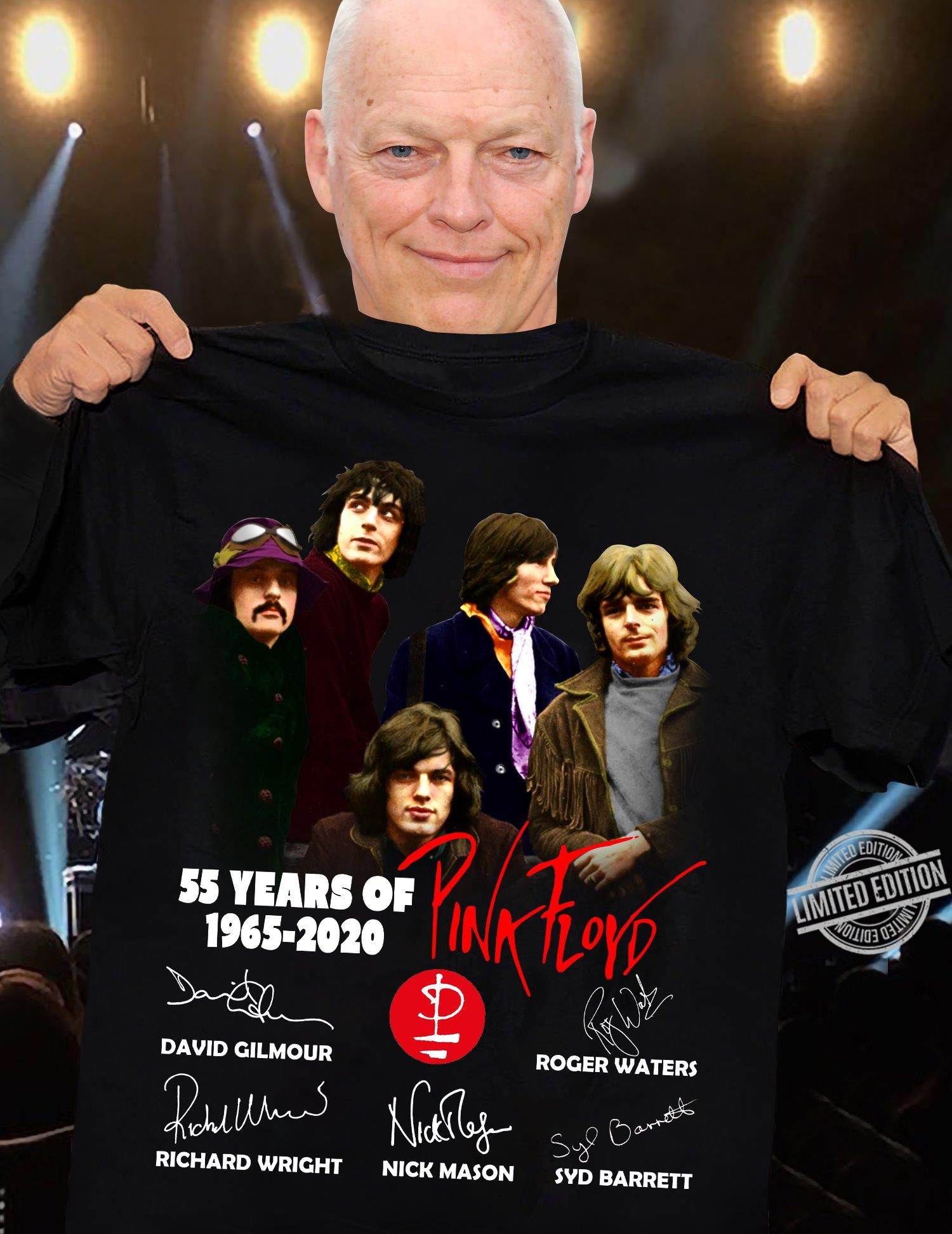 55 Years Of 1965-2020 Charaters Of Pink Flord Signatures Shirt