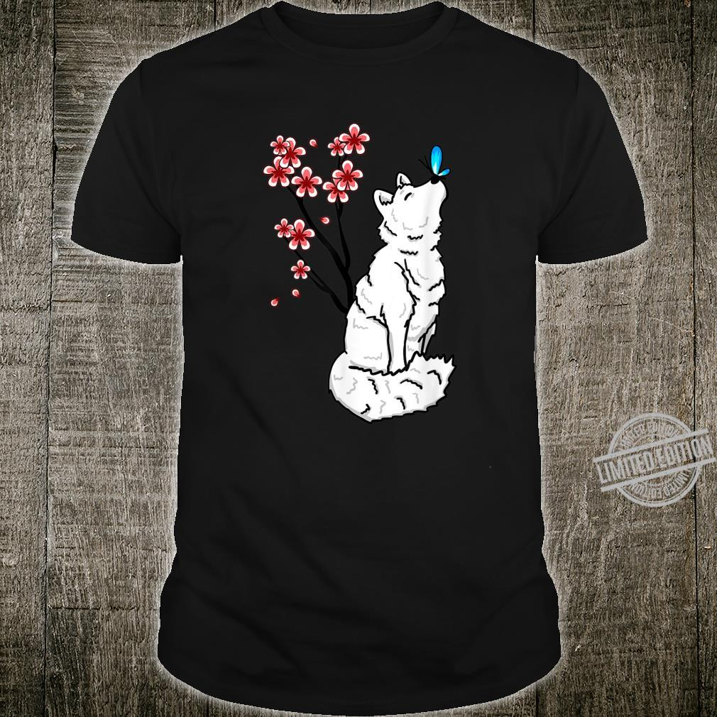 Arctic Fox Sakura Butterfly Cute Animal Animal Shirt