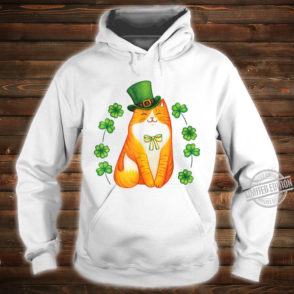 Cute Cat Saint Patrick Day Shirt Happy St Orange Kitten Day Shirt hoodie