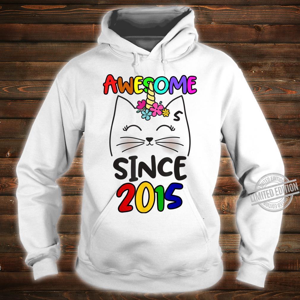 Cute Caticorn 5 Years Old Birthday Unicorn Cat Party Girl Shirt hoodie