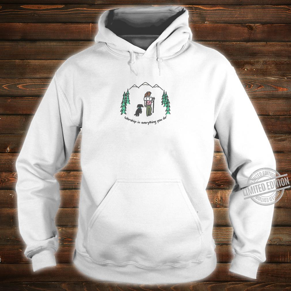 Cute Hiking With Your Dog Shirt hoodie