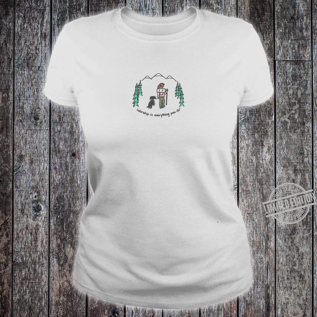 Cute Hiking With Your Dog Shirt ladies tee
