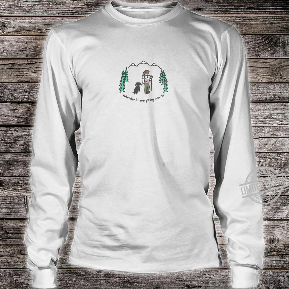 Cute Hiking With Your Dog Shirt long sleeved