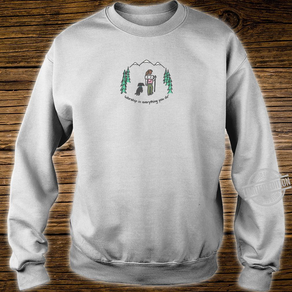 Cute Hiking With Your Dog Shirt sweater