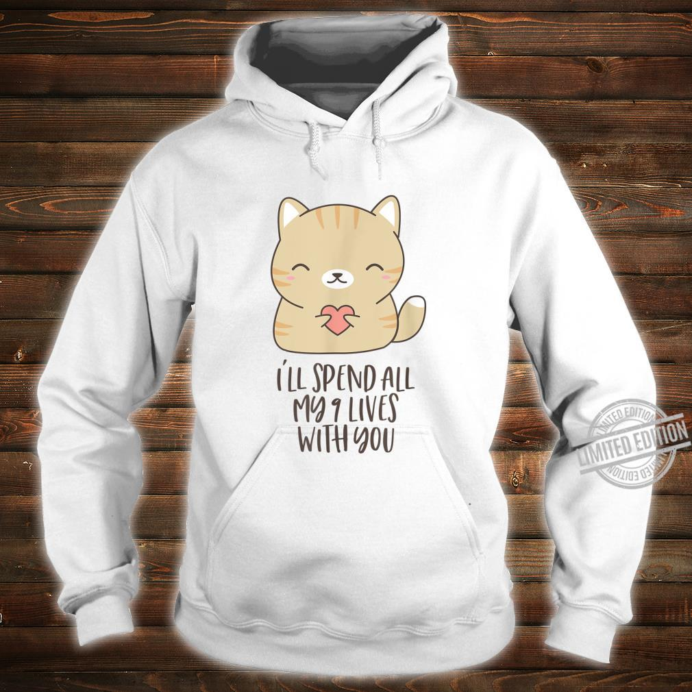 Cute Kitty In Love Holding Heart for Cats Shirt hoodie
