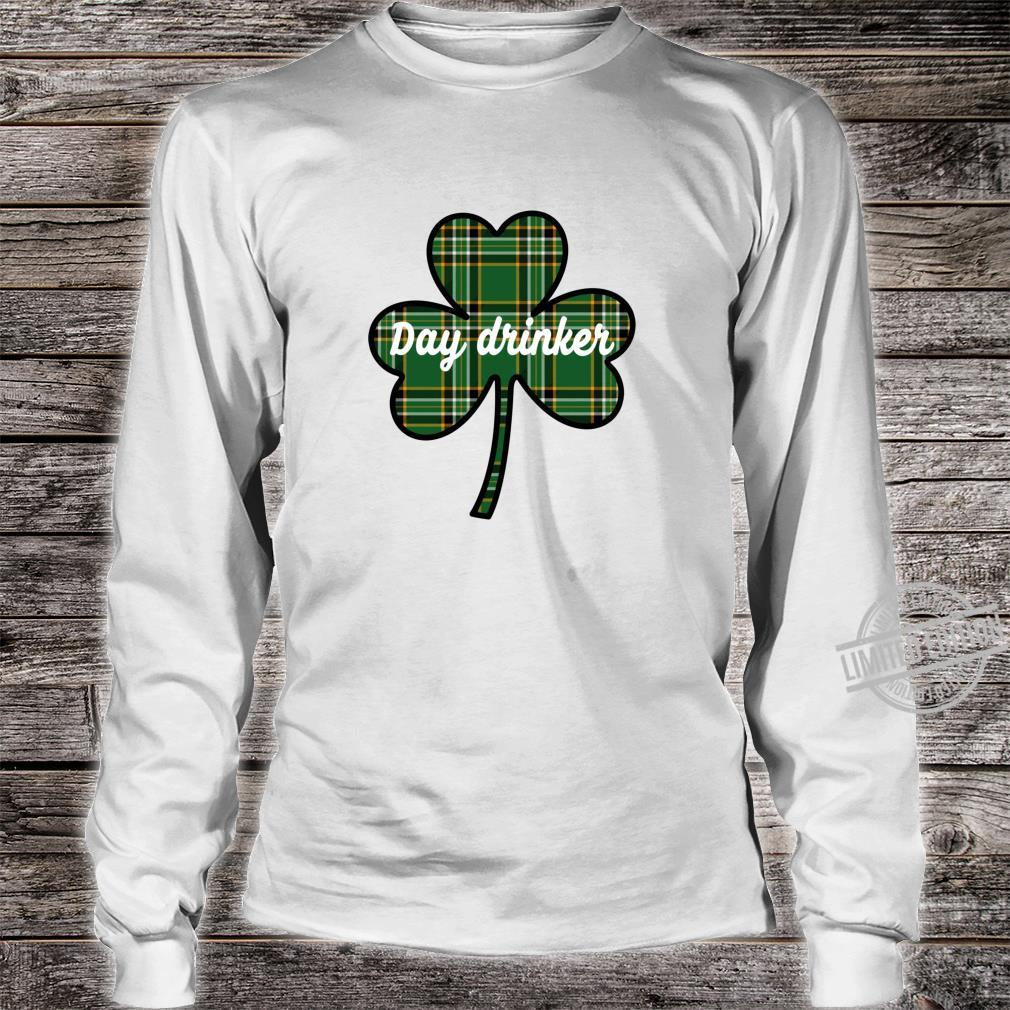 Cute St. Patricks Day Outfit Green Plaid Lucky Shamrock Shirt long sleeved