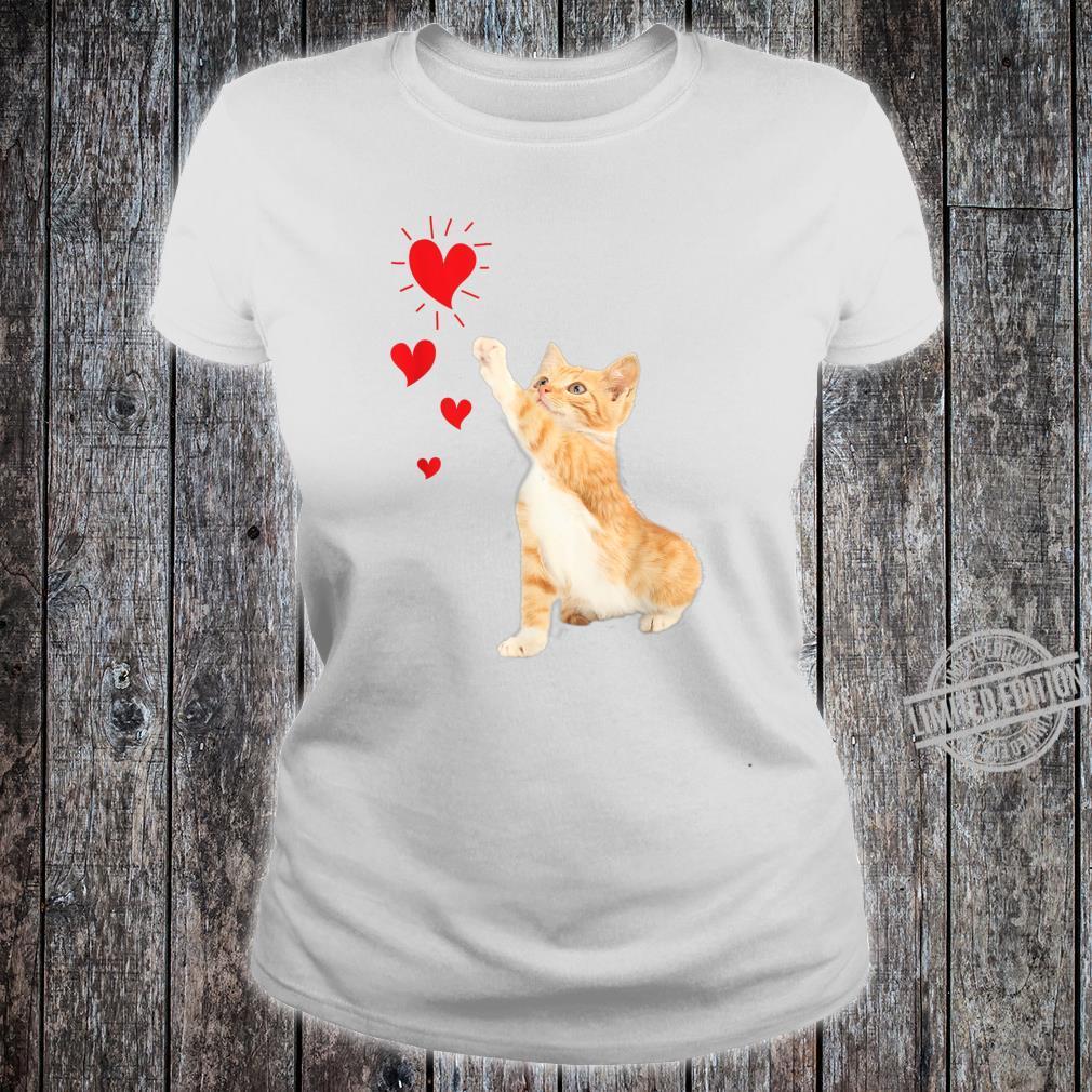 Cute Valentine Kitty Valentine's day Cute Cat Shirt ladies tee