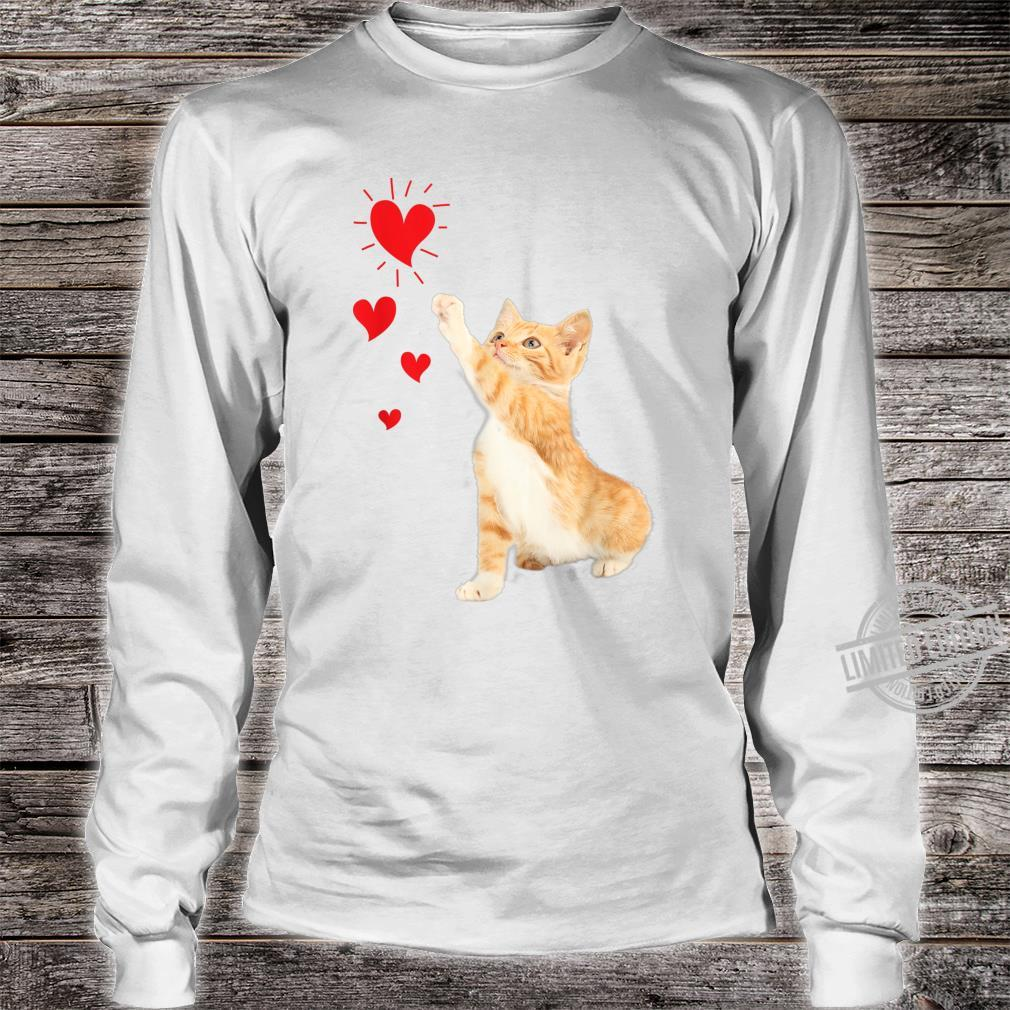 Cute Valentine Kitty Valentine's day Cute Cat Shirt long sleeved