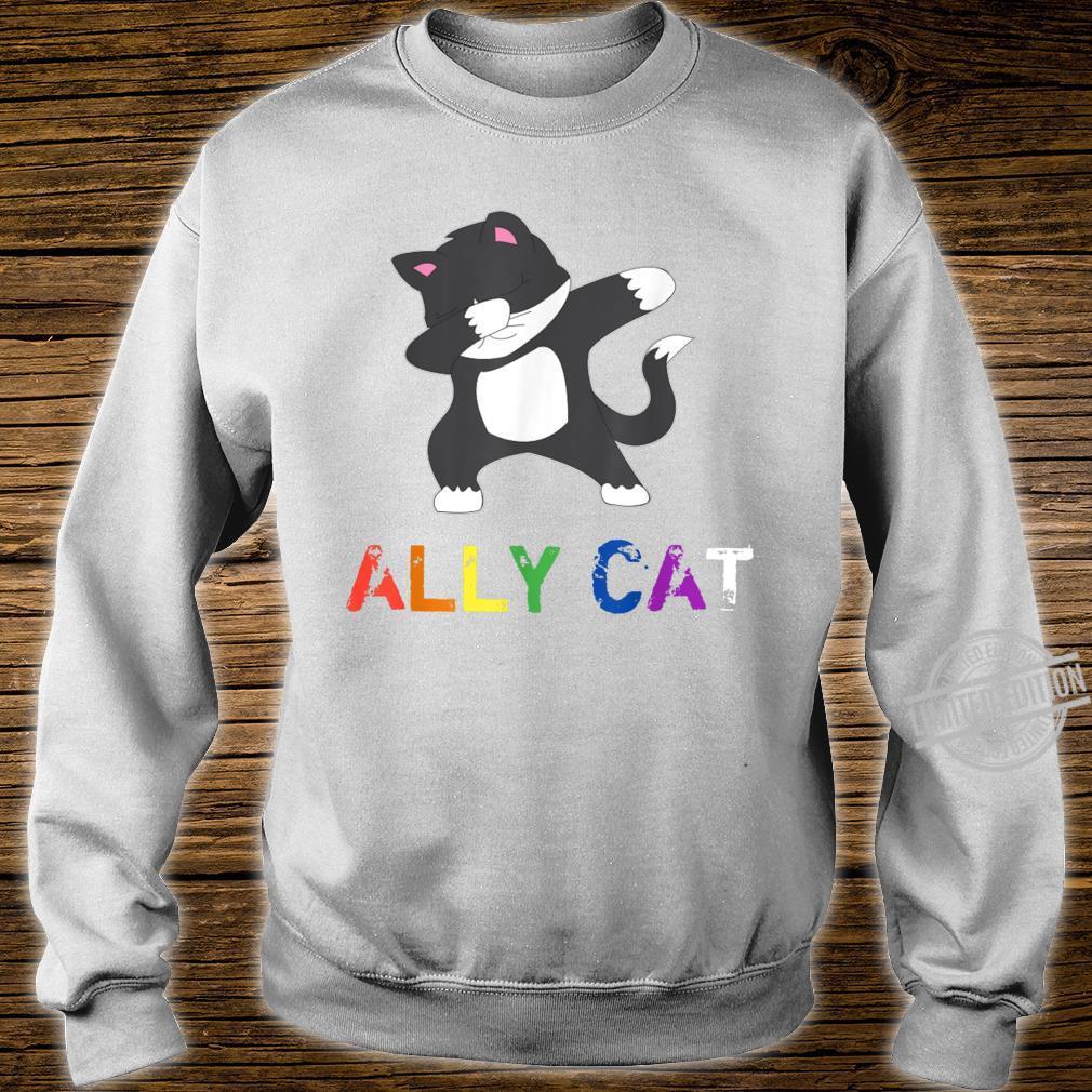 Dabbing Ally Cat Straight Pride LBGTQ Kiitty Gay Shirt sweater