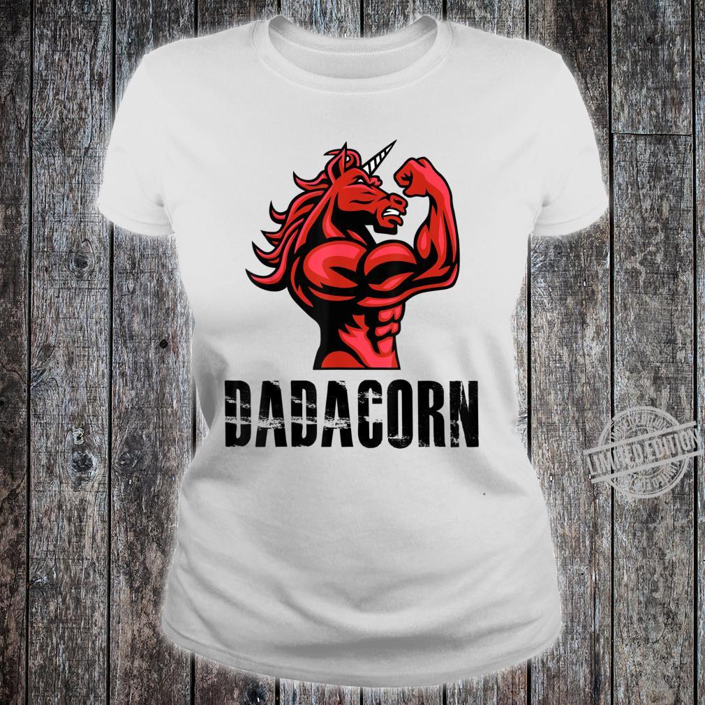 Dadacorn Unicorn for Dad Shirt ladies tee