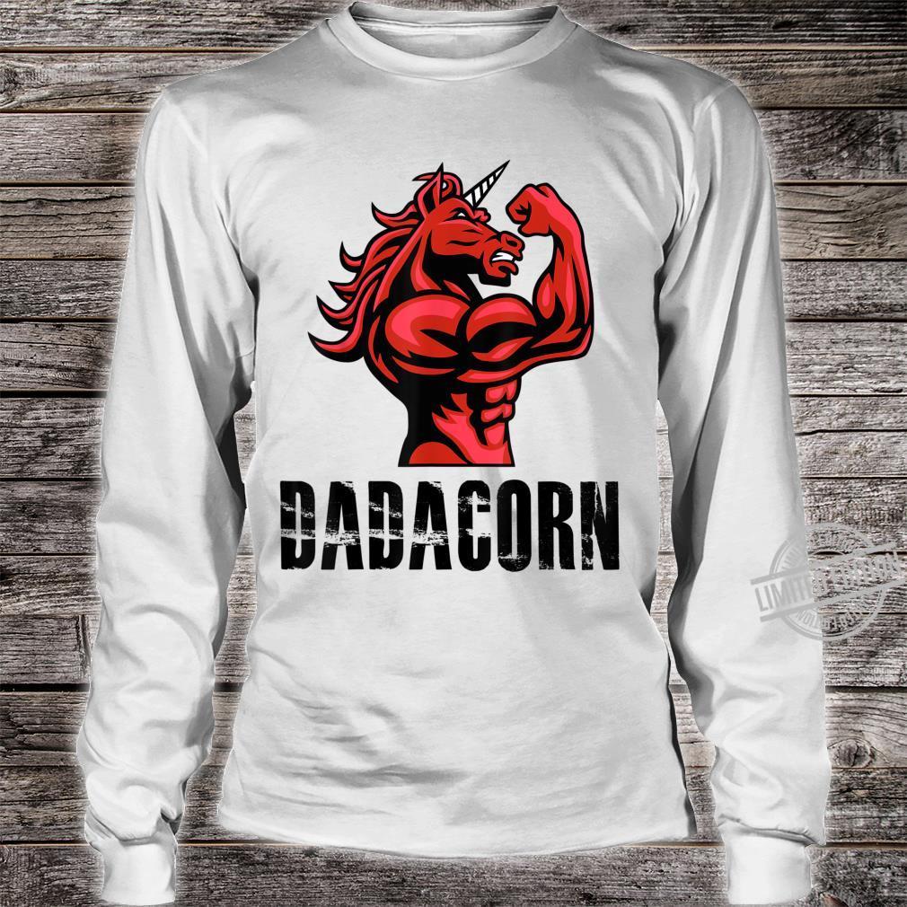 Dadacorn Unicorn for Dad Shirt long sleeved