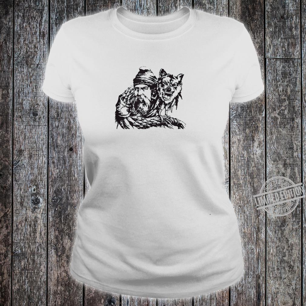 Decebal and the Wolf Flag Vallachia King Romania Ruler Shirt ladies tee