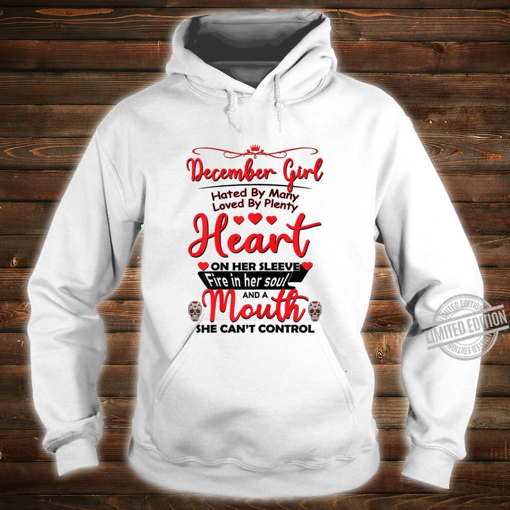 December girl hated by many birthday for skull Shirt hoodie