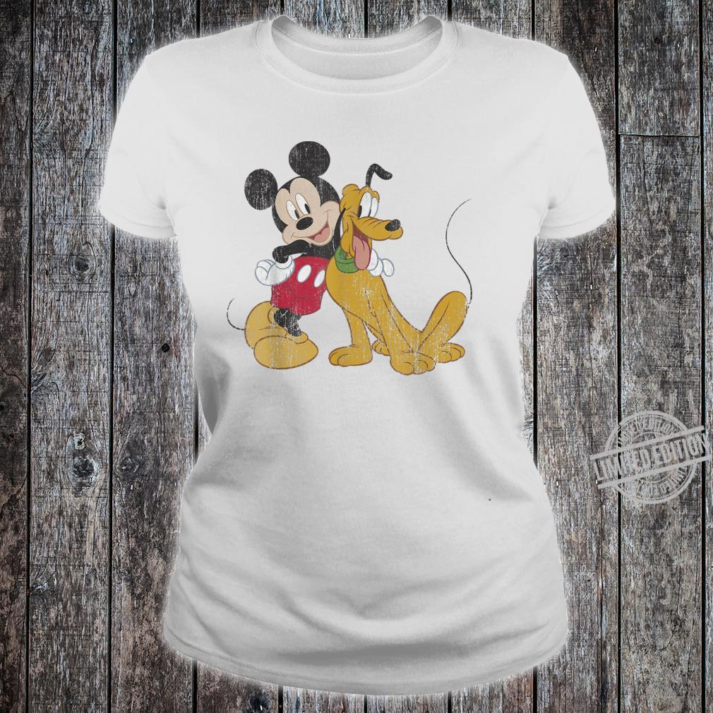 Disney Mickey & Friends Mickey And Pluto Best Pals Shirt ladies tee