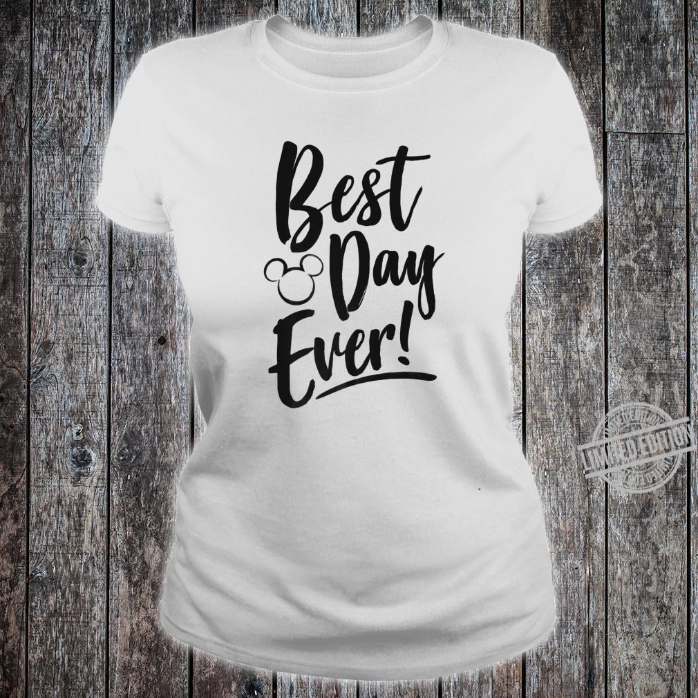 Disney Mickey And Friends Best Day Ever Text Shirt ladies tee