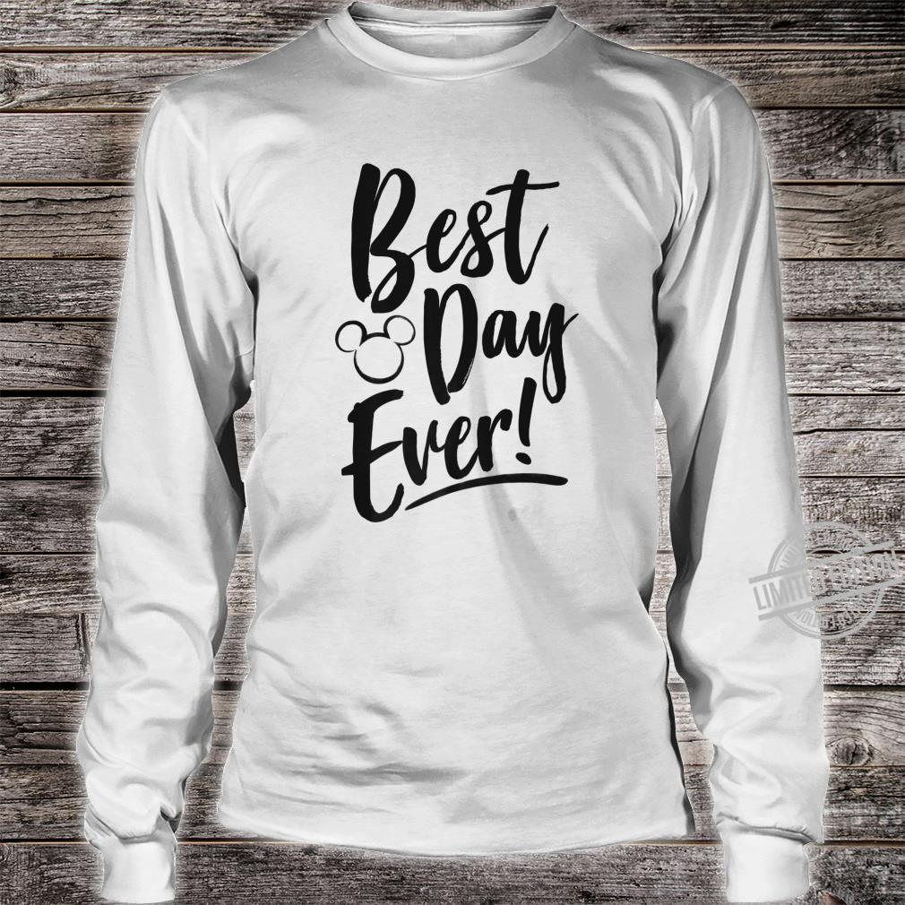 Disney Mickey And Friends Best Day Ever Text Shirt long sleeved