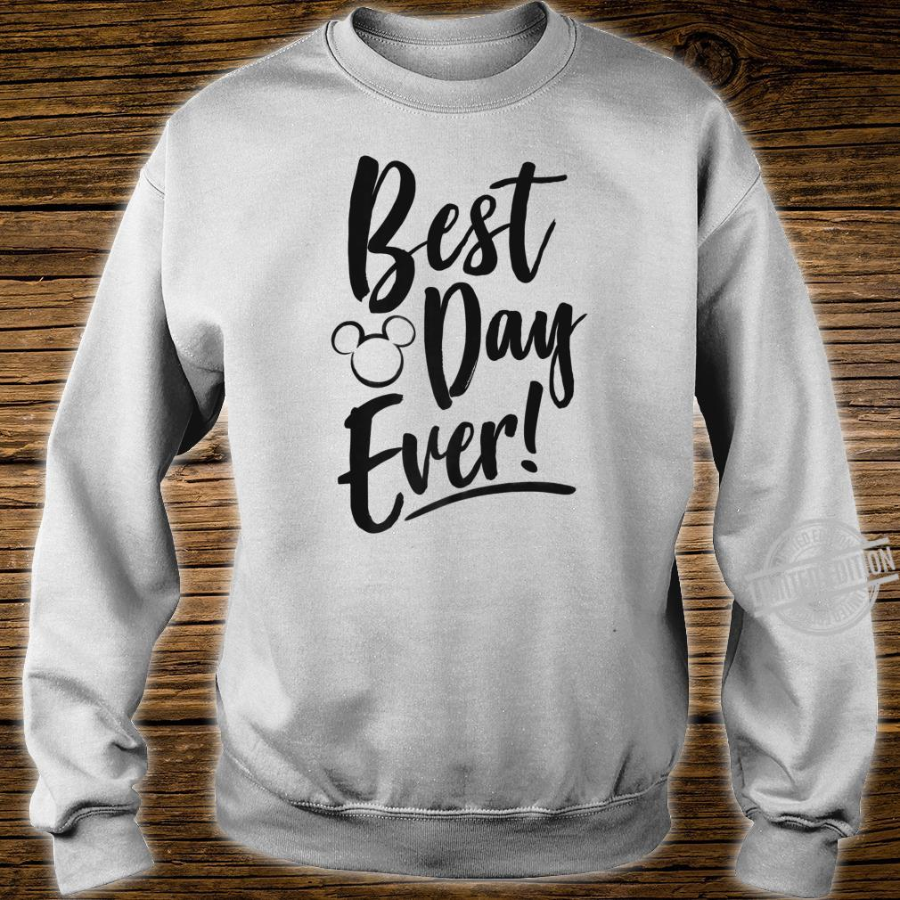 Disney Mickey And Friends Best Day Ever Text Shirt sweater