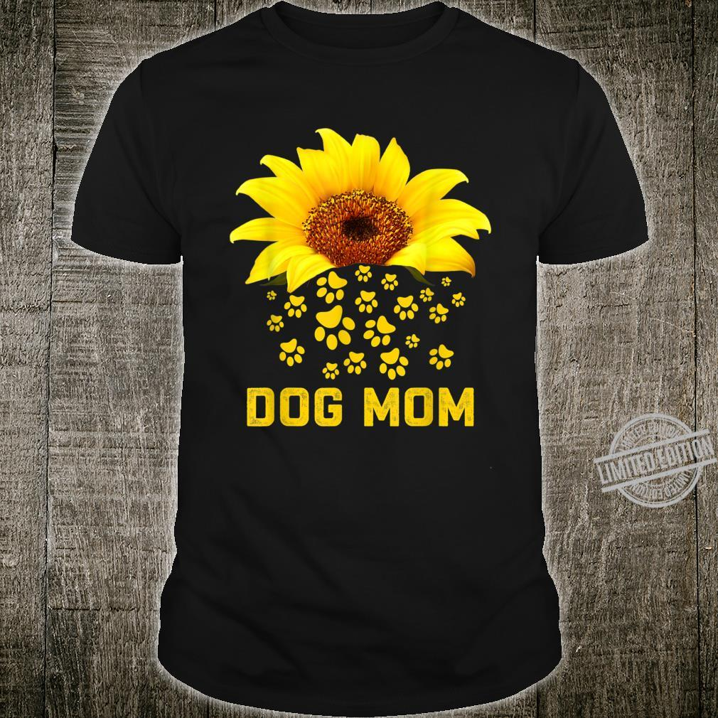Dog Mom Sunflower Dog Paws Mommy Mother's day 2020 Shirt