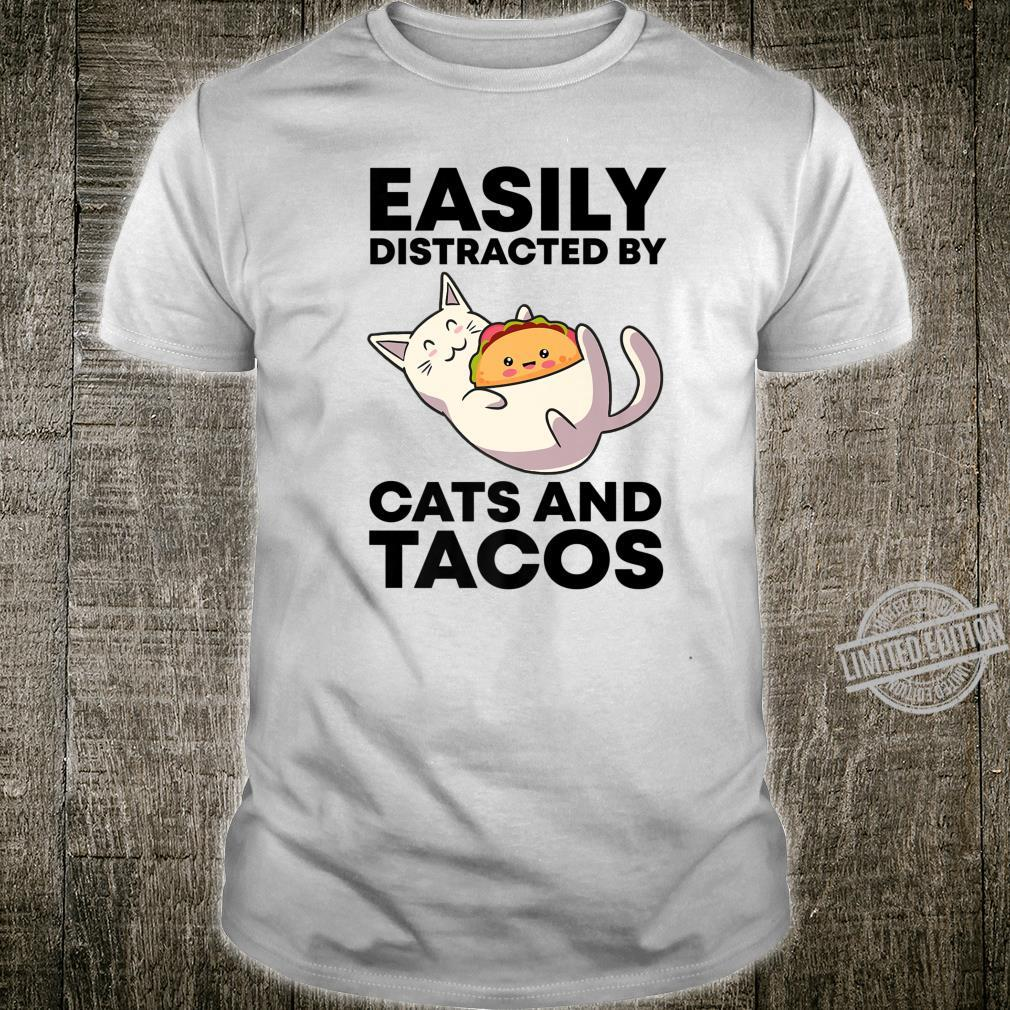 Easily Distracted By Cats And Tacos Kawaii Cats Shirt