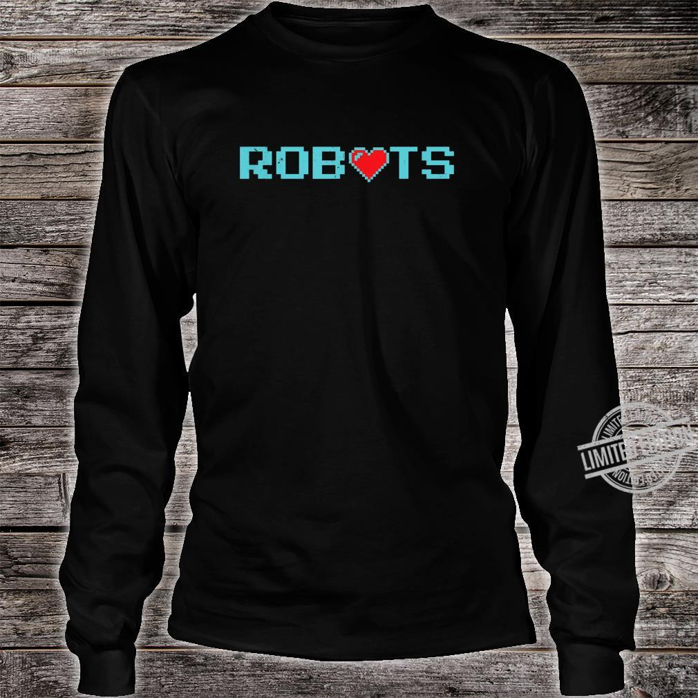 Funny Vintage Robots With Heart Robotics #2 Shirt long sleeved