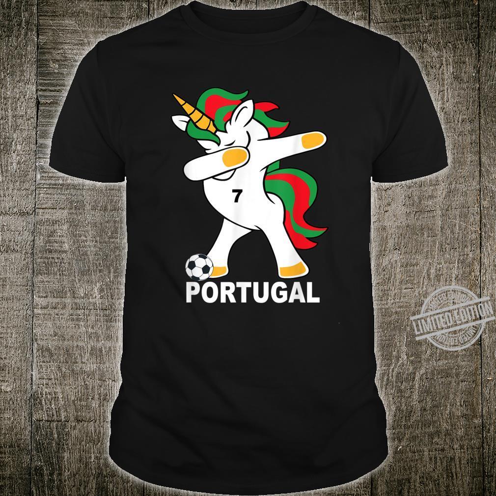 Geschenk Portugal Dab Unicorn Shirt