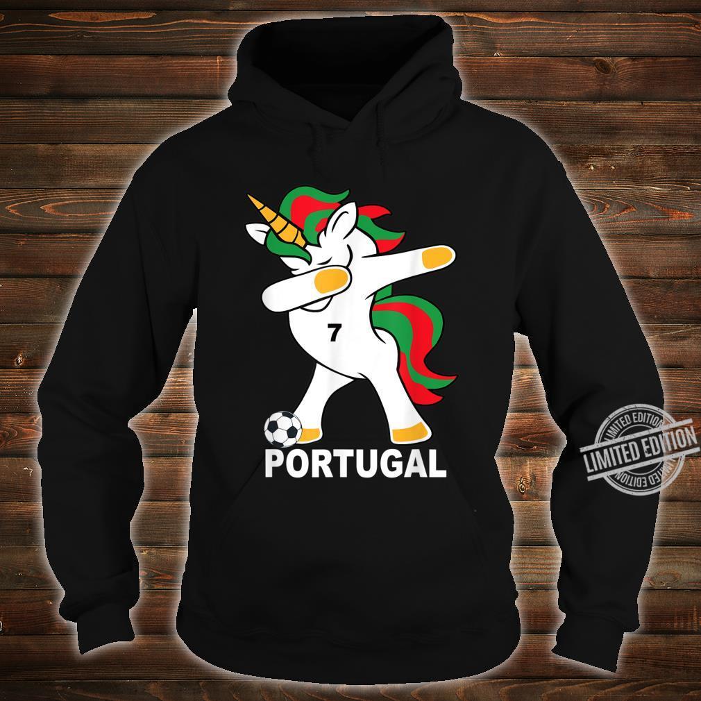 Geschenk Portugal Dab Unicorn Shirt hoodie
