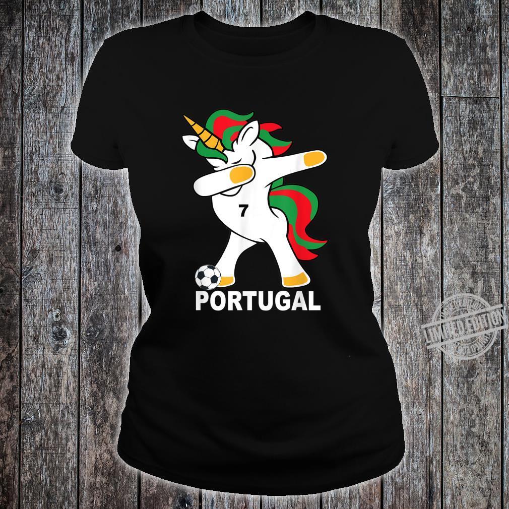 Geschenk Portugal Dab Unicorn Shirt ladies tee