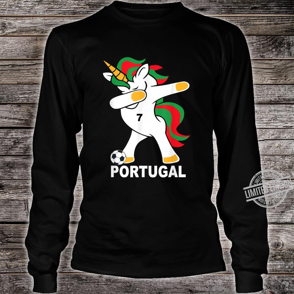 Geschenk Portugal Dab Unicorn Shirt long sleeved