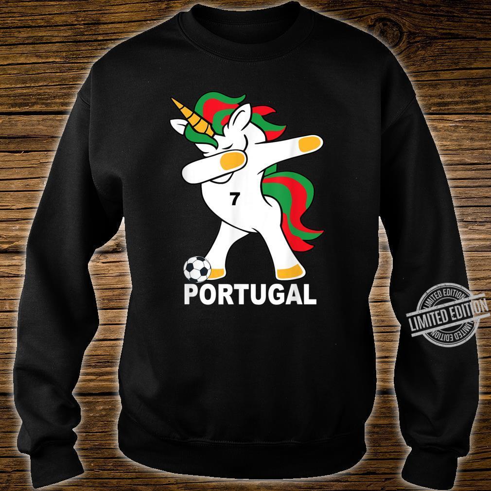 Geschenk Portugal Dab Unicorn Shirt sweater