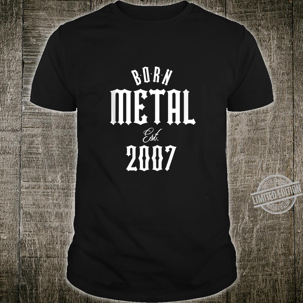 Gift for 13 Year Old Heavy Metal Music 2007 XXth Birthday Shirt