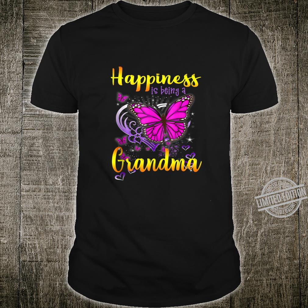Happiness is Being a Grandma Butterfly cute Mother's day Shirt