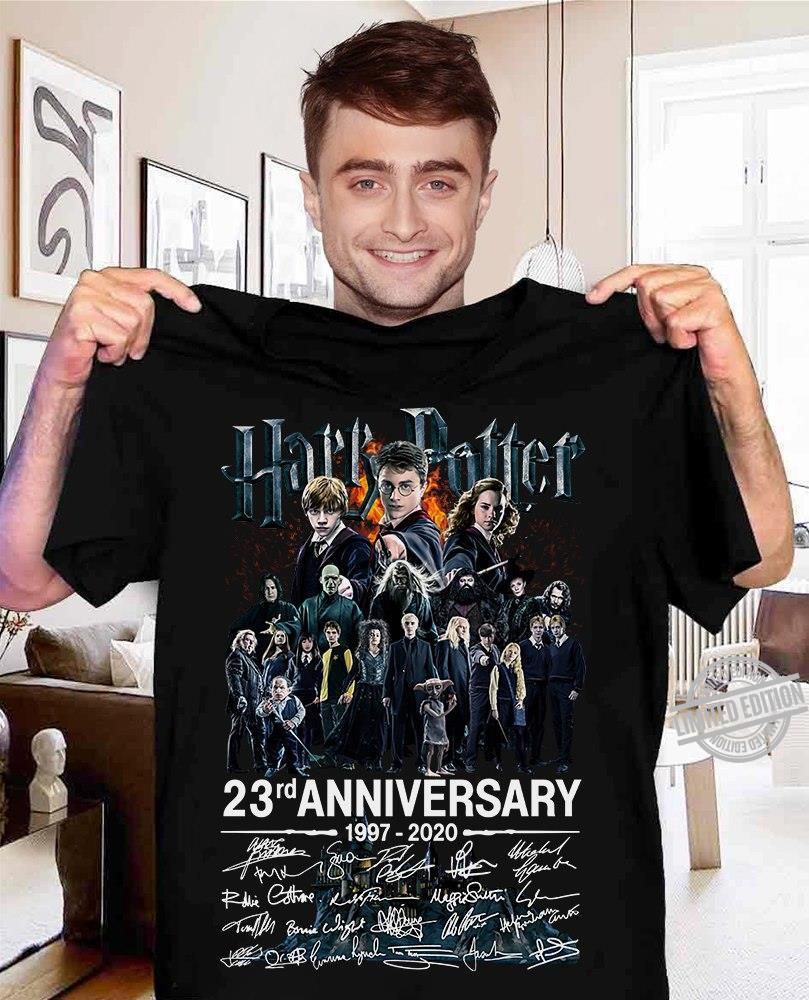 Harry Potter 23rd Anniversary 1977 2020 Signatures Shirt
