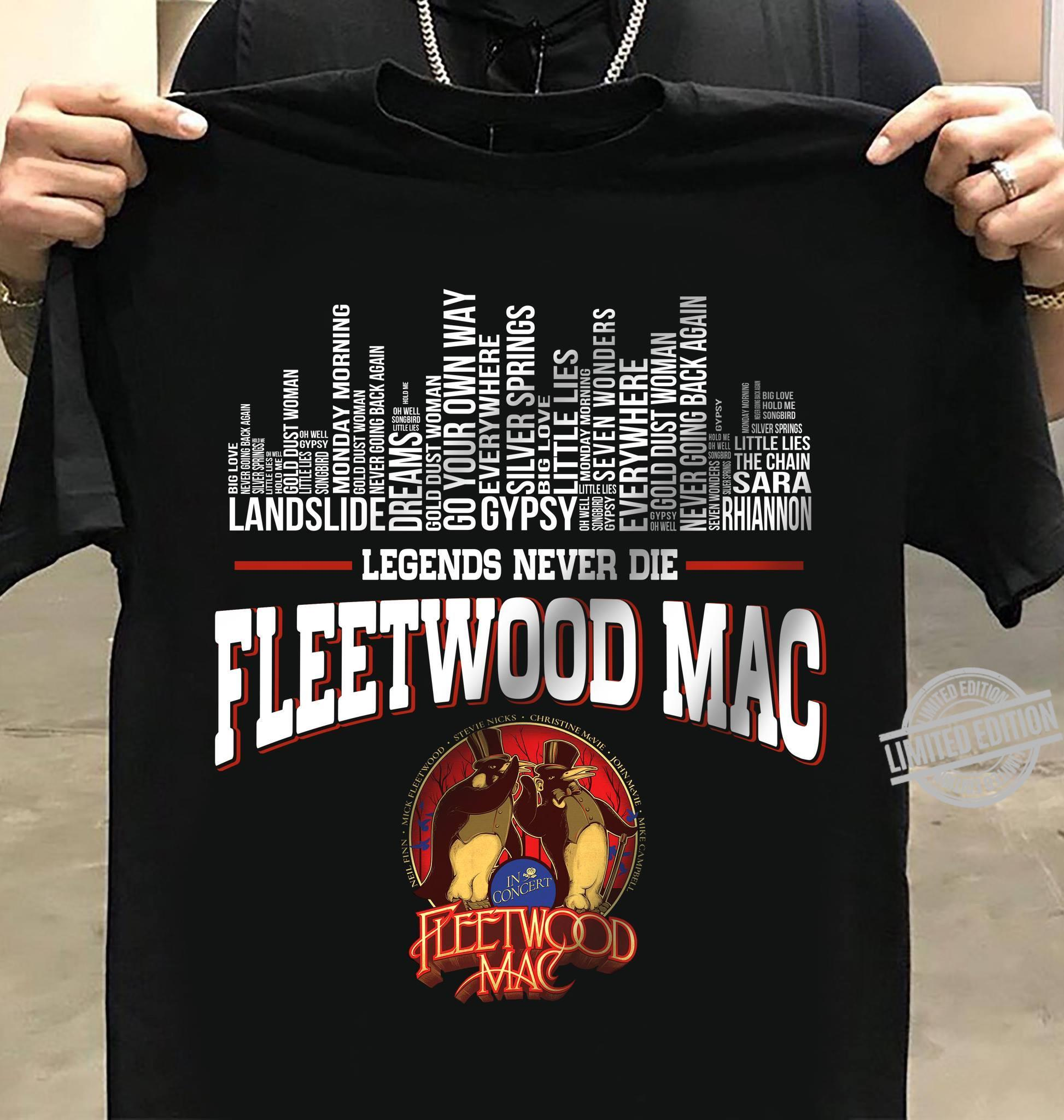 Landslide Gypsy Legends Never Die Fleetwood Mac Shirt