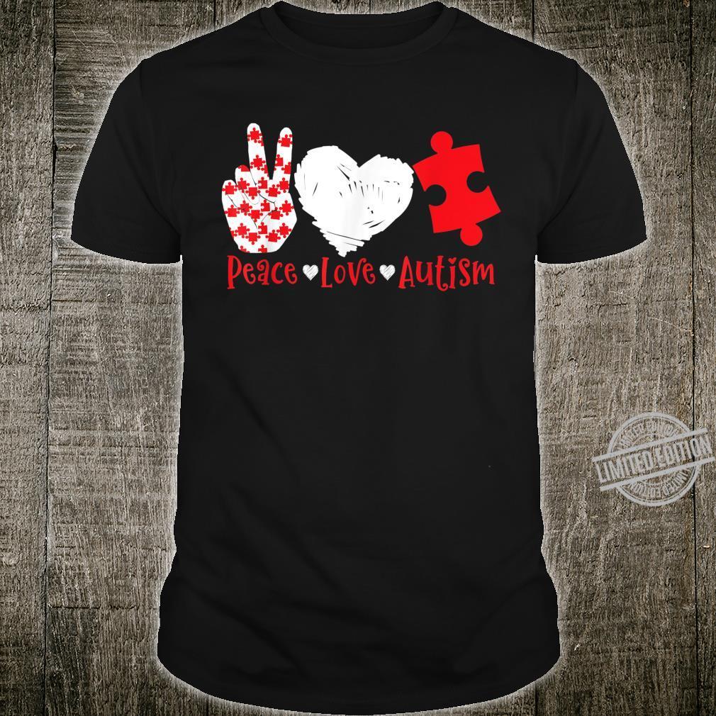 Peace Love Autism Autictis Shirt Autism Awareness Shirt