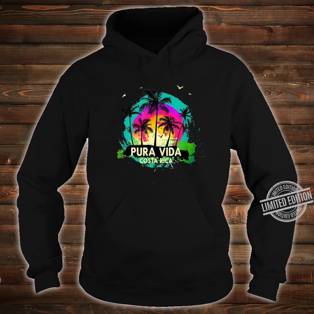 Pura Vida Souvenir Retro Sunset Shirt hoodie