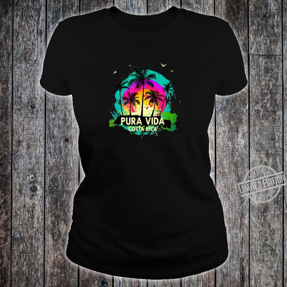 Pura Vida Souvenir Retro Sunset Shirt ladies tee