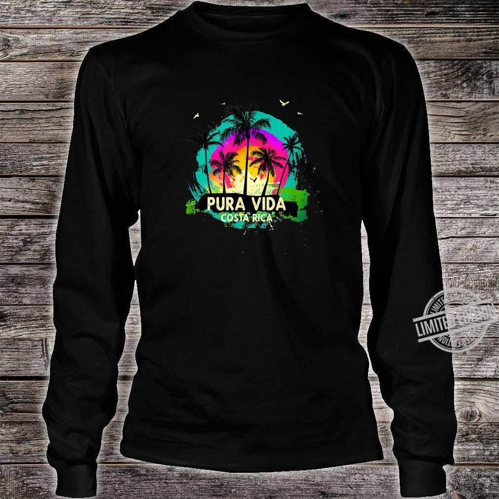 Pura Vida Souvenir Retro Sunset Shirt long sleeved
